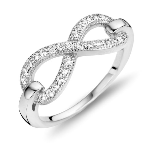 Ring Infinity mit 27 Zirkonia Silber 925