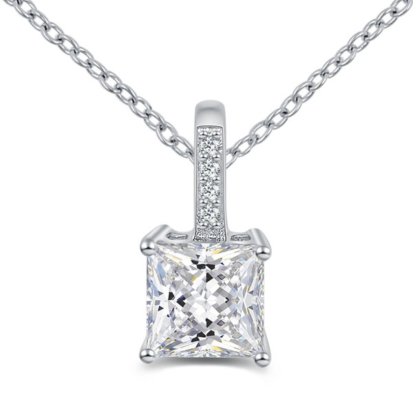 Lovebird Collier mit Zirkonia Princess Cut Silber 925/000